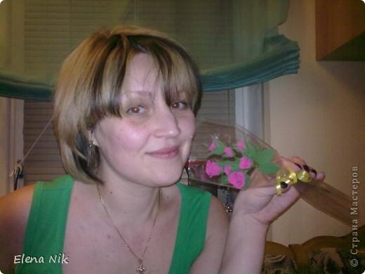 Доброй ночи,дорогие мастерицы.Вот такие кустовые розы я подарила подругам на праздник фото 2