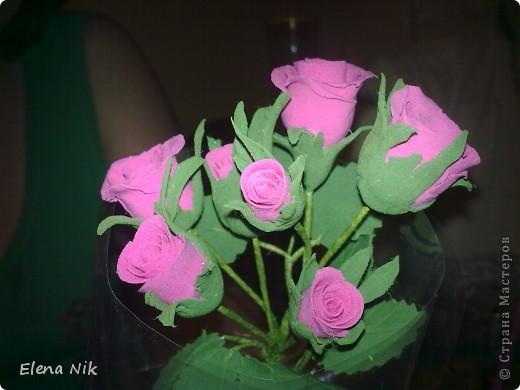 Доброй ночи,дорогие мастерицы.Вот такие кустовые розы я подарила подругам на праздник фото 1