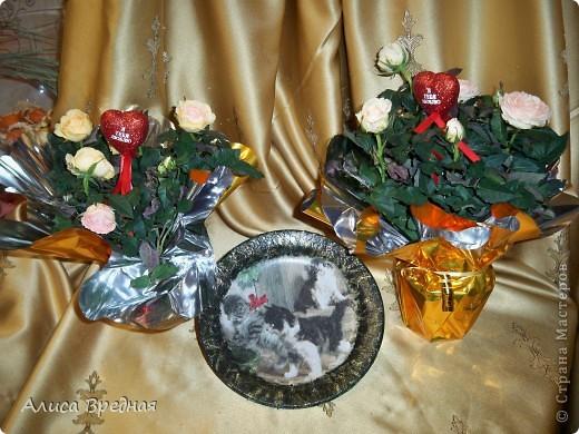 Добрый день))) Поздравляю всех Вас с наступлением весны и прошедшим 8ым марта))) Поэтому случаю решила я сделать тарелочки, благо их у меня мноооого , как и салфеток))   фото 5