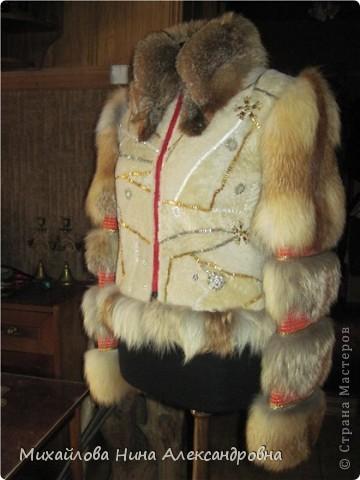 Меховая курточка с лисой фото 1