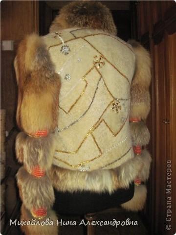 Меховая курточка с лисой фото 2