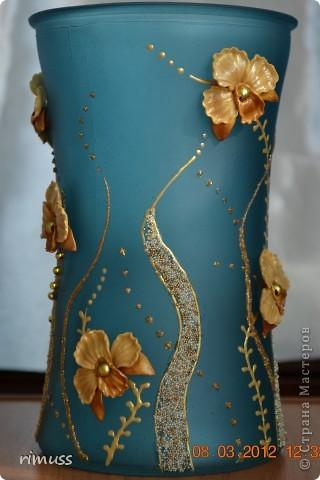 здравствуйте всем! я тоже с подарками! крайние вазы были куплены такого цвета и матовые, а средняя прозрачная цветная фото 6