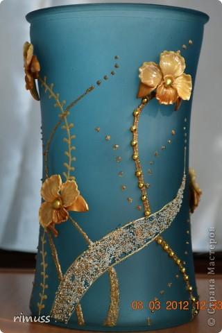 здравствуйте всем! я тоже с подарками! крайние вазы были куплены такого цвета и матовые, а средняя прозрачная цветная фото 7