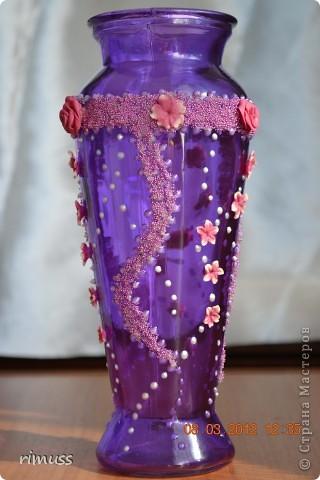 здравствуйте всем! я тоже с подарками! крайние вазы были куплены такого цвета и матовые, а средняя прозрачная цветная фото 8