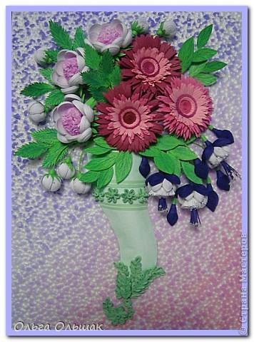 Дорогие мастерицы!В первый месяц весны на свет у меня появился  цветочный рог изобилия. фото 1