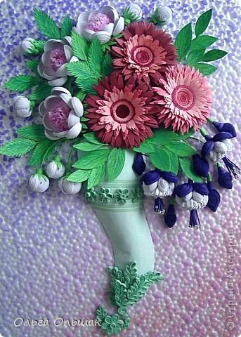 Дорогие мастерицы!В первый месяц весны на свет у меня появился  цветочный рог изобилия. фото 7