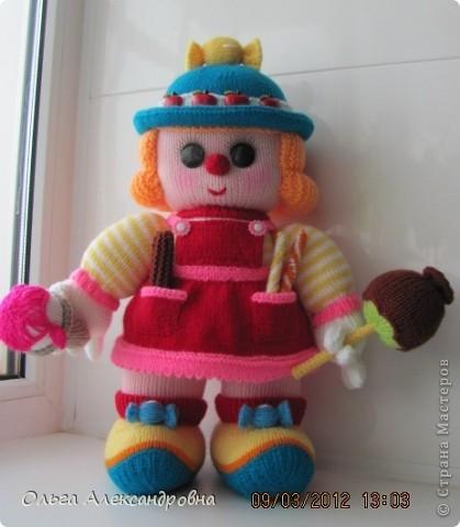 Вот такая клоунесса Сладкоежка у меня только что связалась.  фото 9