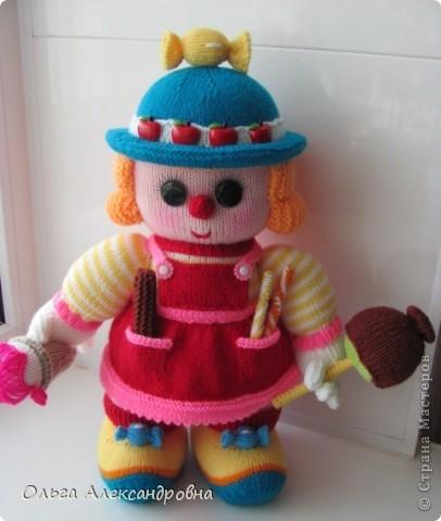 Вот такая клоунесса Сладкоежка у меня только что связалась.  фото 10