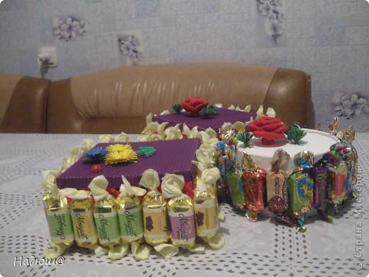 Эти подарочки - моим коллегам:) Вот так вот по - весеннему:) И вкусненько - с конфетками фото 2