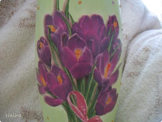 Выбрала салфетку с крокусами, потому что это одни из первых весенних цветов. фото 2
