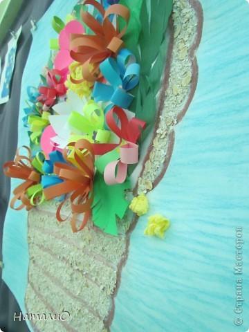 Вот такую корзину с цветами мы подарили нашим мамам! Ребятишки 5-6 лет очень трепетно и с любовью отнеслись к этой работе.  фото 3