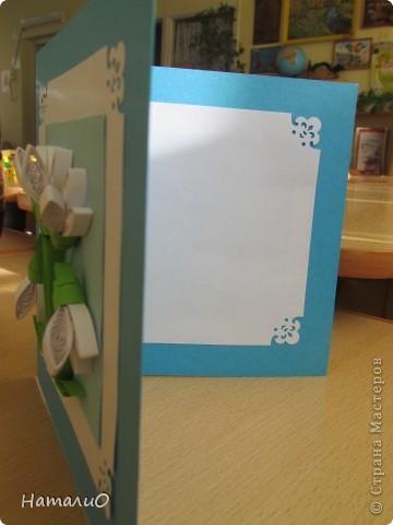 Весна! и у меня расцвели подснежники! Получилась такая вот открытка в подарок учителю. фото 2