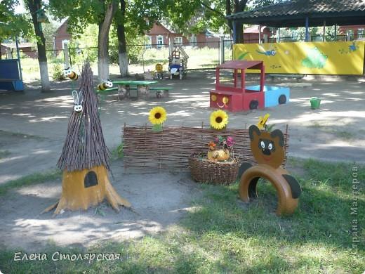 Сделала на участке детского сада фото 3
