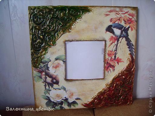"""Зеркало для подруги """"Райские птицы"""" фото 1"""