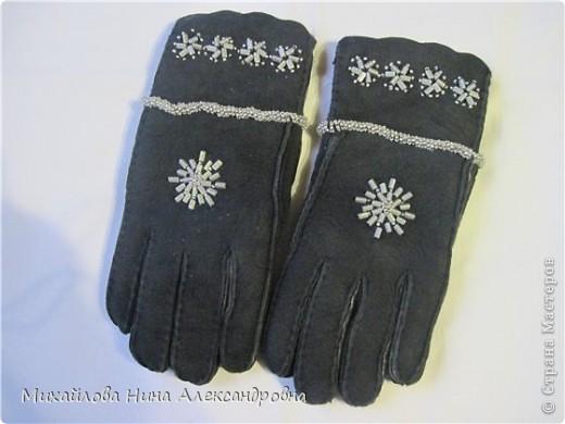 "Перчатки ""зимняя сказка"" фото 3"