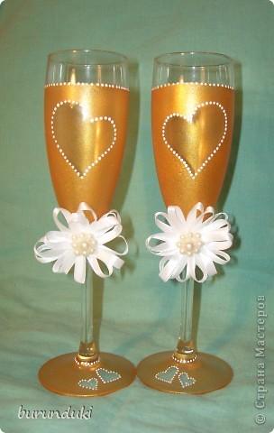 Свадебные бокалы. Продолжаю учиться. фото 2