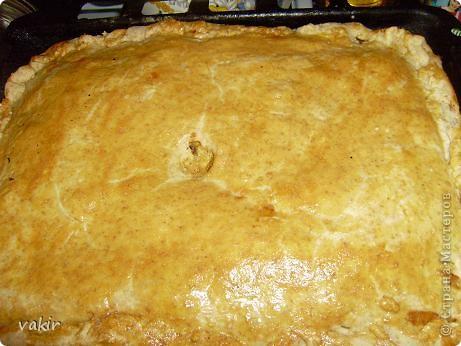 Рецепт этого необыкновенно вкусного и дешёвого пирога несколько лет назад нашла в одной из газет. С тех пор он, с некоторыми вариациями, стал одним из любимых наших блюд. Сегодня хочу поделиться рецептиком с вами. фото 11