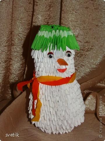 На улице уже календарная весна, а у нас дома поселился снеговик... фото 1