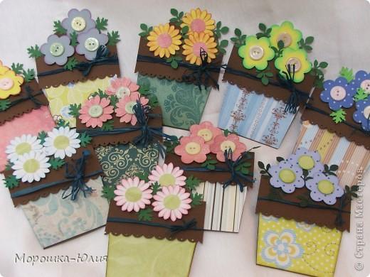 Такие открытки я делала своим коллегам к празднику весны. фото 13