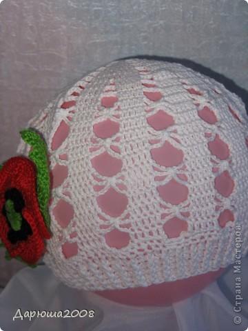 Вот какие шапочки я навязала своей дочурке за 2 месяца фото 6
