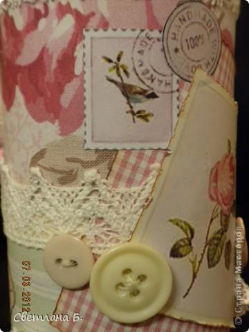 Всем привет!!!  Хочу сегодня показать ещё немного подарков к 8 марта. Заглядываясь на карандашницы МАРСАМ https://stranamasterov.ru/node/316216 и АлёныАлександровны https://stranamasterov.ru/node/301806 , решилась сделать и я. Вот ссылочка на МК Динули http://paper-fairytale.blogspot.com/2011/07/blog-post_30.html  фото 6