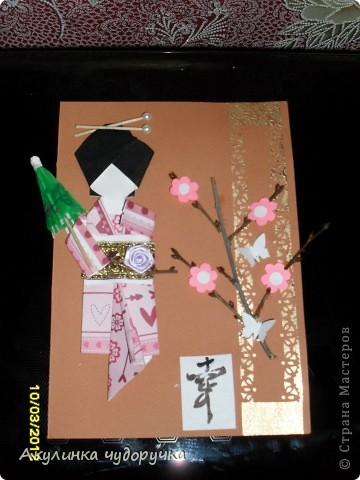Открытка в японском стиле. Спасибо за вдохновение Стране мастеров и особенно Веронике Александровне,за её МК кимоно.