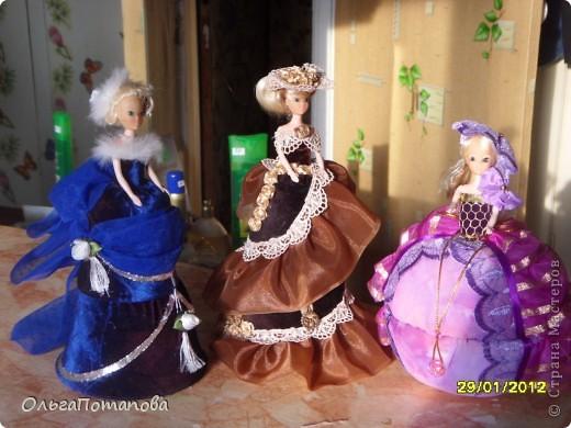 Все куклы созданы по мастер классам ineska https://stranamasterov.ru/node/128514 и Ксения 2010 https://stranamasterov.ru/node/208355. Украшала правда, используя собственную фантазию.  фото 11