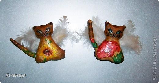 Кофейно-запеченые декупажные киски-ангелочки с нежным запахом корицы фото 4