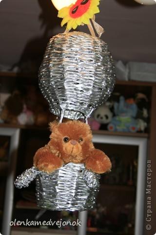 вот такой серебристый, вымученный шарик, мучила, не знаю почему с июля, потом покрасила неудачно, но Лена Деревенщина вдохновила закрасить все серебром за что ей огромное СПАСИБО! фото 1