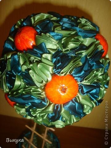 Яблочки из солёного теста, торцовки из атласной ленты 2,5 см. фото 2