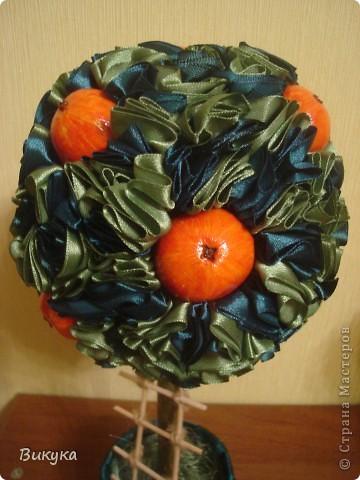 Яблочки из солёного теста, торцовки из атласной ленты 2,5 см. фото 4