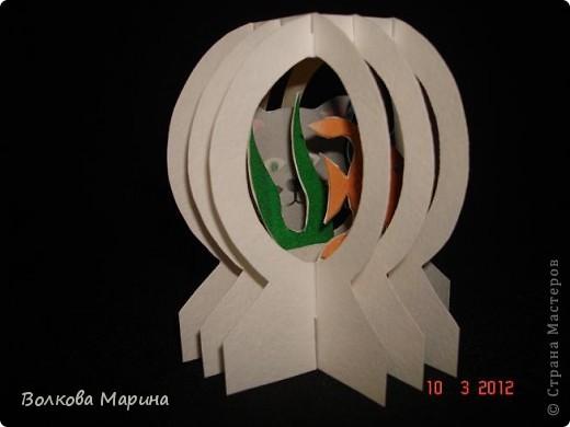 Это разновидность киригами. Из бумаги делаются объёмные изделия (имеющие сетчатую структуру), при этом их можно легко сложить и они будут плоские как лист бумаги. Так же легко восстанавливают свой объёмный вид. Очень удобно использовать в поздравительных открыточках. Я решила собрать коллекцию. Можно сказать это образцы для будующих работ.  фото 40
