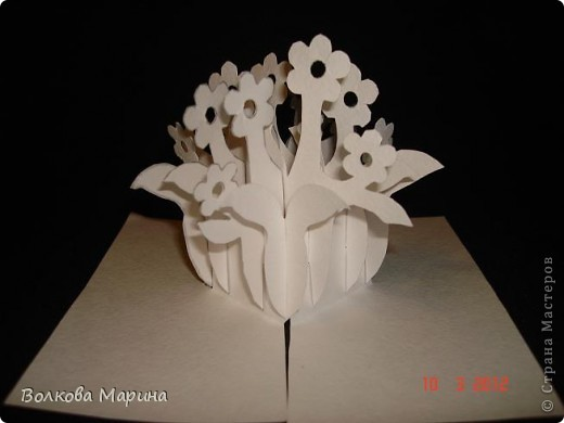 Это разновидность киригами. Из бумаги делаются объёмные изделия (имеющие сетчатую структуру), при этом их можно легко сложить и они будут плоские как лист бумаги. Так же легко восстанавливают свой объёмный вид. Очень удобно использовать в поздравительных открыточках. Я решила собрать коллекцию. Можно сказать это образцы для будующих работ.  фото 42