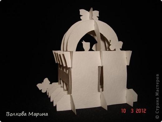 Это разновидность киригами. Из бумаги делаются объёмные изделия (имеющие сетчатую структуру), при этом их можно легко сложить и они будут плоские как лист бумаги. Так же легко восстанавливают свой объёмный вид. Очень удобно использовать в поздравительных открыточках. Я решила собрать коллекцию. Можно сказать это образцы для будующих работ.  фото 69