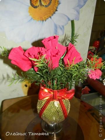В эти цветочки спрятаны конфетки  К сожалению, я недавно на сайте, поэтому мастер класс не снимала фото 2