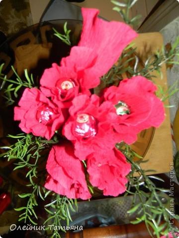 В эти цветочки спрятаны конфетки  К сожалению, я недавно на сайте, поэтому мастер класс не снимала фото 3