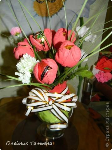 В эти цветочки спрятаны конфетки  К сожалению, я недавно на сайте, поэтому мастер класс не снимала фото 4