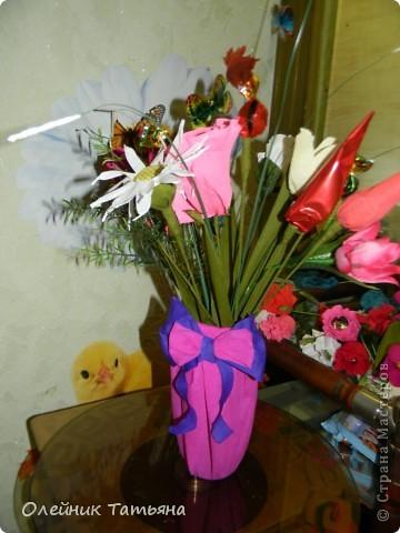В эти цветочки спрятаны конфетки  К сожалению, я недавно на сайте, поэтому мастер класс не снимала фото 6