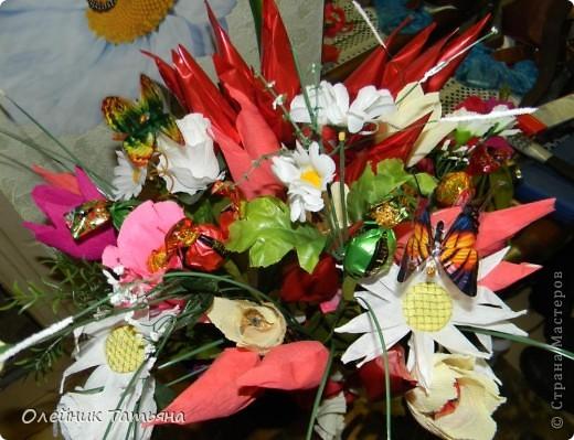 В эти цветочки спрятаны конфетки  К сожалению, я недавно на сайте, поэтому мастер класс не снимала фото 7