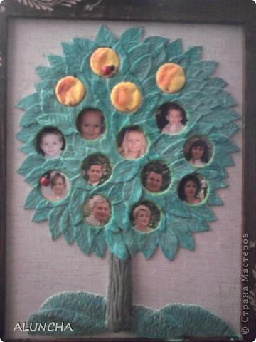 Уж очень мне понравилось генеалогическое древо,которое сделала Мария Кац...Поэтому и я решила такое же сотворить на юбилей своему брату...Вместо яблочек -фотки всех членов семьи. фото 1