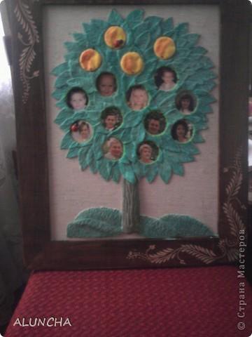 Уж очень мне понравилось генеалогическое древо,которое сделала Мария Кац...Поэтому и я решила такое же сотворить на юбилей своему брату...Вместо яблочек -фотки всех членов семьи. фото 2