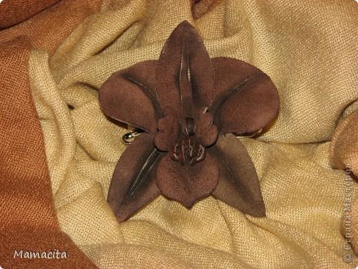Орхидеи из кожи своими руками мастер класс 72
