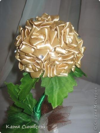 Вот такая розочка получилась в подарок мме на 8 МАРТА. Делала под впичатлением от этой замечательной работы!          https://stranamasterov.ru/node/267661  .Спасибо автору за такую красотищу. фото 5