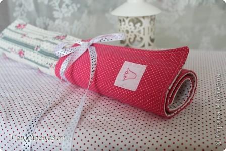 Чехол для спиц сшила в подарок для одного хорошего человека, который увлекается вязанием.  фото 2