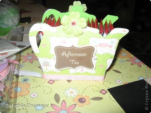 """Мои первые работы на 8 марта родным:) Это """"домики для чайных пакетиков"""" фото 1"""