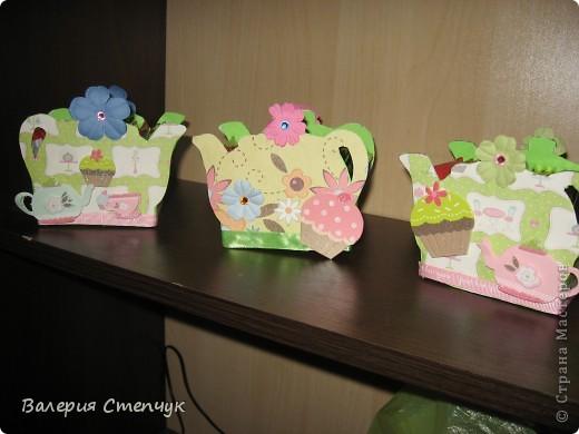 """Мои первые работы на 8 марта родным:) Это """"домики для чайных пакетиков"""" фото 2"""