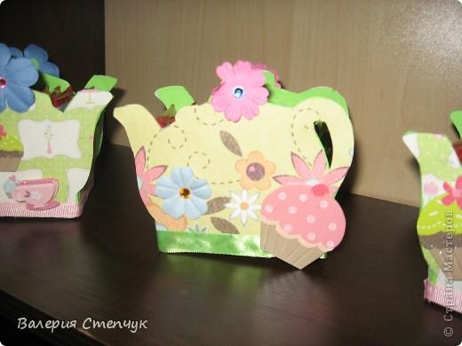 """Мои первые работы на 8 марта родным:) Это """"домики для чайных пакетиков"""" фото 3"""