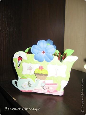 """Мои первые работы на 8 марта родным:) Это """"домики для чайных пакетиков"""" фото 4"""