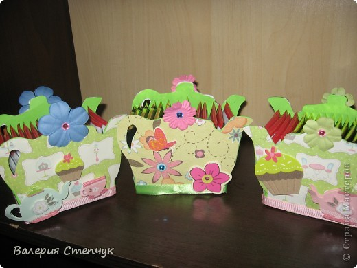 """Мои первые работы на 8 марта родным:) Это """"домики для чайных пакетиков"""" фото 6"""