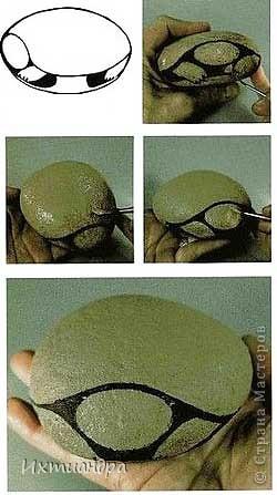 Ура! В моей коллекции появилась новая черепашка! Не могу без умиления на неё смотреть. А нарисована она на простом камушке, привезённом с моря более 3 лет назад. фото 9